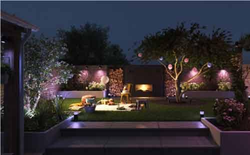 نورپردازی حیاط ، باغچه و ویلا با شیک سازان
